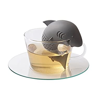 Mr. Shark Tea Infuser | Super Adorable Shark-Shaped Tea Filter and Infuser | Premium Food Grade Silicone with Durable and Anti-Spill Build | Heat Resistant and Dishwasher Safe | Adaptive to Loose Tea Leaves and Tea Bags | 1051