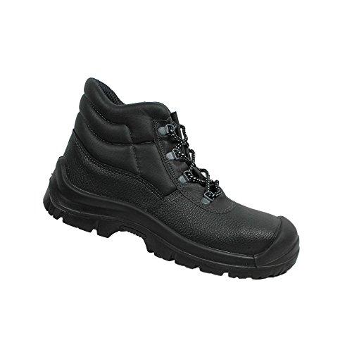 Berner uK classic haute s3 berufsschuhe businessschuhe chaussures de chaussures de sécurité chaussures de travail noir - Noir - Noir, 42 EU