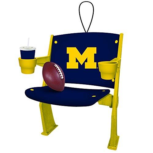Team Sports America Michigan Wolverines Stadium Chair Ornament (State Michigan Ornaments Christmas)