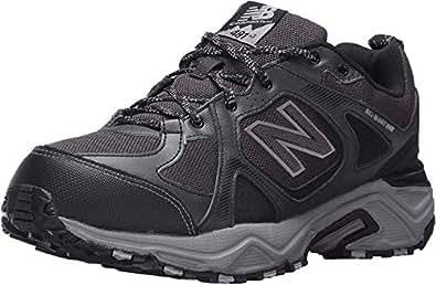 New Balance Men's 481V3 Water Resistant Cushioning Trail Running Shoe, Black/Grey, 8 4E US