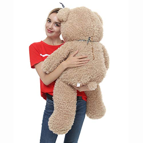 DOLDOA Big Teddy Bear Stuffed Animals Plush Toy for Girlfriend Children (39 inch, Tan)