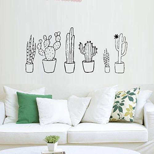 supmsds Cactus Conjunto Blanco y Negro Tatuajes de Pared Plantas ...