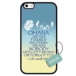 diy case - Customized Ohana Means Family Lilo & Stitch TPU Case Cover for Apple iPhone 6 - Black 06 Kimberly Kurzendoerfer