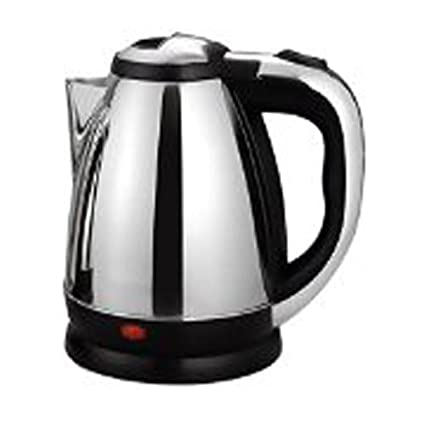 Electric kettle |STAINLESS STEEL ELECTRIC KETTLE 1.8L(Silver:Black)| With Auto Cut-Off Feature