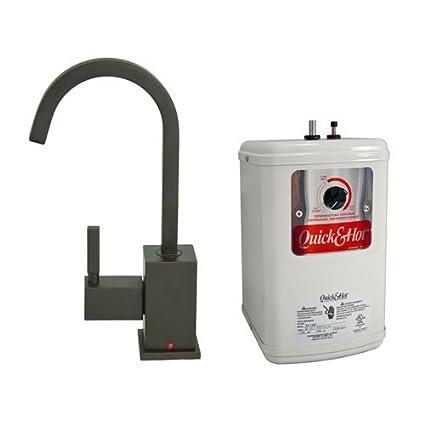 Grifo monomando, caliente dispensador de agua con depósito de calefacción en bronce aceitado
