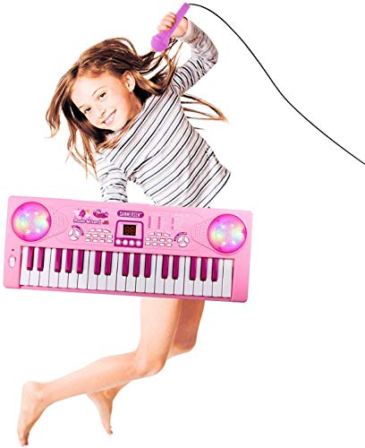M SANMERSEN Electronic Piano for Kids 37 Keys Kids Piano Keyboard Music Keyboard Piano with Microphone Educational Toy…