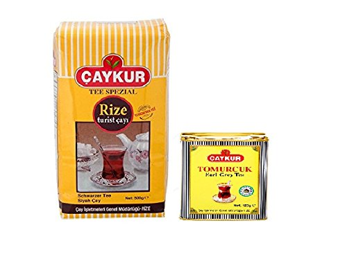Caykur Rize Black Tea and Tomurcuk Earl Grey Tea Mixes