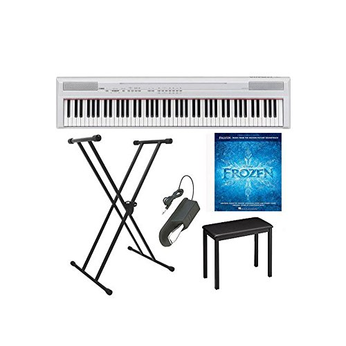 yamaha-p-series-p105b-88-keys-digital-piano-in-white-on-stage-single-x-style-keyboard-stand-jamstand