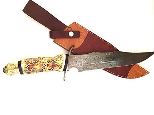 Hand Made Damascus Steel Hunting Knife W Buy Online In El Salvador At Desertcart