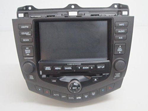03 04 05 06 07 HONDA ACCORD 6 CD PLAYER NAVIGATION GPS SCREEN DISPLAY RADIO ()