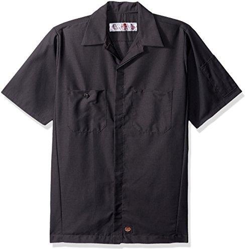 Red Kap Men's Ripstop Crew Shirt, Short Sleeve, Charcoal, Large from Red Kap