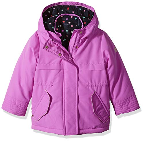 Osh Kosh Girls' Toddler 4 in 1 Heavyweight Systems Jacket, Purple, - 4in 1 Hooded Systems Jacket