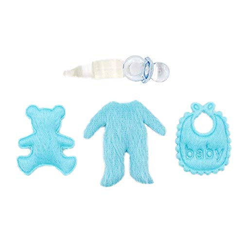 Odoria 1:12 Miniature 5PCS Baby Doll's Accessories Set Bib Pacifier Baby Bottle Dollhouse Decoration Accessories from Odoria