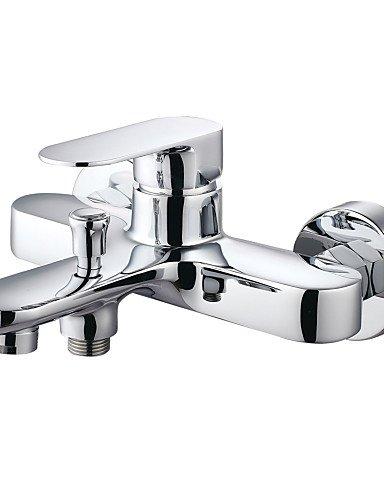 Square Wall Mounted Single Handle Waterfall Glass Spout Bathroom Bath Handheld Shower Tap Mixer Bathtub