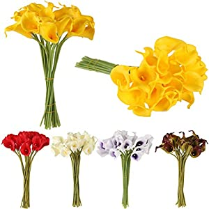 GSD2FF 10Pcs/lot Artificial Flower Decorative Flowers Calla Lily Latex Home Decoration Birthday Party Wedding Bouquet Flowers 31