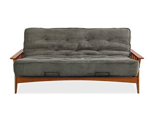Sofas 2 Go SI-EX-SEA-VO-3S Seattle Vintage Oak Futon Frame W/ 8