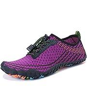 MAYZERO Water Shoes Men Women Quick Drying Swim Surf Beach Pool Shoes Wide Toe Barefoot Aqua Shoes Summer Outdoor Sports Shoes