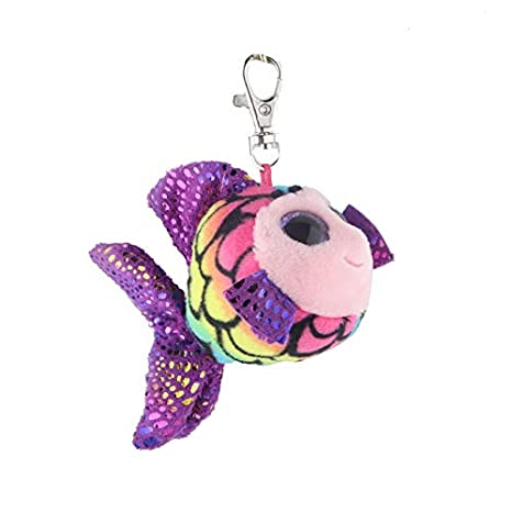 Amazon.com: JEWH Ty Beanie Boos Big Eyes Plush Keychain Toy Doll Fox Owl Dog Unicorn Penguin Giraffe Leopard Monkey Dragon with Tag 4[ 10cm] (Rainbow ...