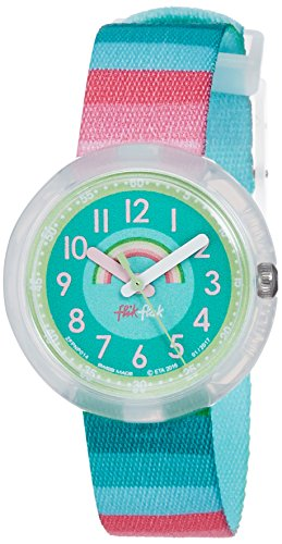 Amazon.com: Flik Flak Power Time Stripy Dreams Green Blue Pink Kids Watch FPNP014: Watches