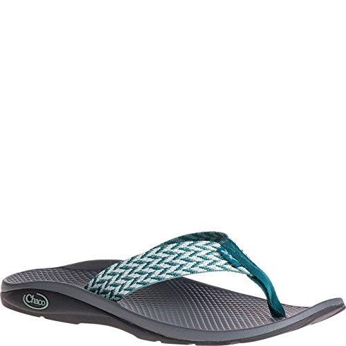 Flip Women's Chaco Flip Teal Trellis Ecotread Sandal 5fx18xng