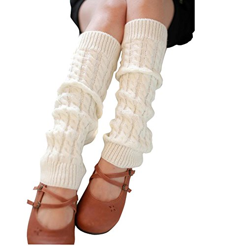 ieasysexy Women Ladies Winter Fashion Leg Warmers Stocking Knit Thick Long Socks Lady Knit Crochet Legging Best Xmas Gift -