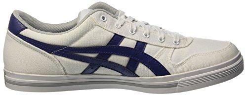 Asics Aaron, Bajos Unisex Adulto Blanco (White/blue Print)