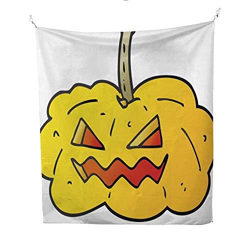 (25 Home Decor Tapestries Cartoon Halloween pumpkin10 dope Tapestries 60W x 91L)