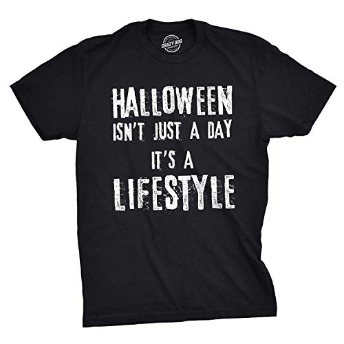 Halloween Masks New Leaf (Mens Halloween Isnt Just A Day Its A Lifestyle Tshirt Funny October Holiday Tee for Guys (Black) -)
