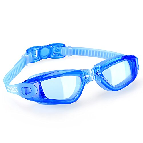 GDEALER Swimming Goggles Swim Goggles Swim Glasses Anti Fog with Ear Plug and Nose Clip for Adult Men Women Youth Kids Child ()
