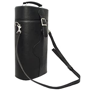 Piel Leather Double Deluxe Wine Carrier by Piel Leather