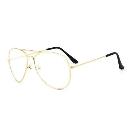 7976ee7cba YMTP Marco De Anteojos Mujeres Hombres Diseño Piloto Llanura Espejo Vintage  Miope Gafas Unisex