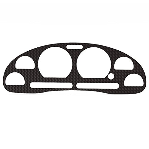 Carbon Fiber Vinyl Gauge Cluster Dash Bezel Trim fits: 1994-2004 Ford Mustang All Models - Ferreus Industries - BZL-186-Carbon-a