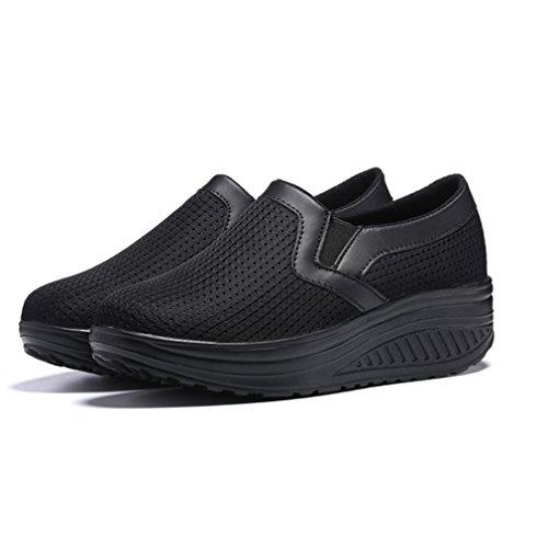 Chaussures Respirantes Noir Chaussures Shoes Femmes de Marche Mesh Dames Légères wxSCFYq