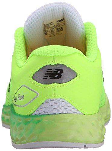 New Balance kjzntv2Youth Zapatilla de Running (Little Kid/Big Kid) White/Toxic