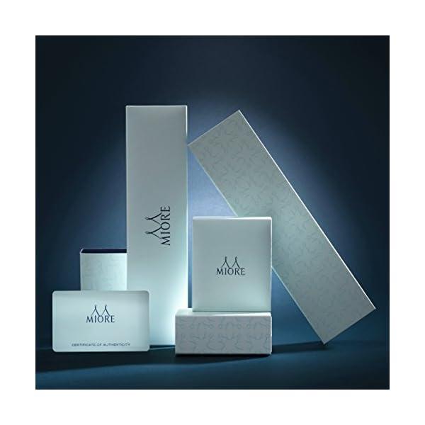 Miore - Anello di fidanzamento da donna in oro bianco 375 a 9kt e diamanti brillanti da 0,10 kt 5 spesavip