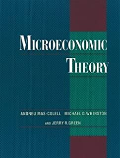 solutions manual for microeconomic theory andreu mas colell rh amazon com
