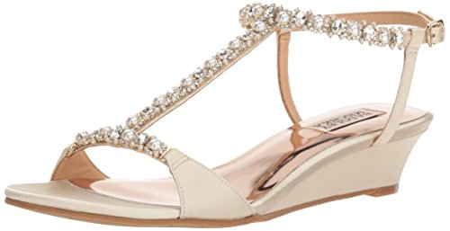 Badgley Mischka Women's Yadira Wedge Sandal Ivory SXl98v2a