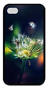 iphone 4 case online covers Super nice Dandelion TPU Black for Apple iPhone 4/4S