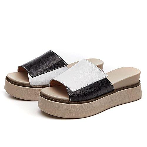 Thong Platform pit4tk White Slipper Flip Summer Sandals High Heel Wedge Fashion Women's Flops ZHqPxZg