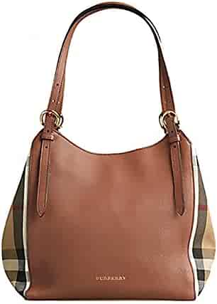 b70b450ebddd Tote Bag Handbag Authentic Burberry Small Canter in Leather and House Tan  color Made in Italy