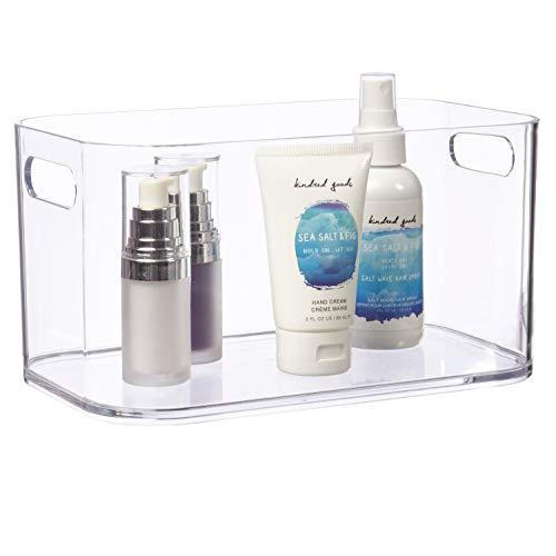 STORi Bliss Open Compartment Plastic Organizer | Clear