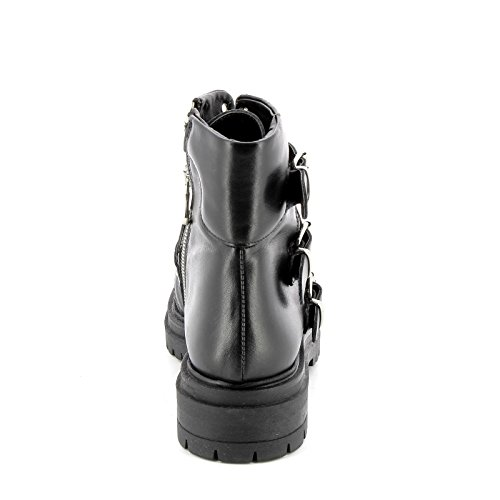 Basses Noir Alesya avec 5 amp;Scarpe en à Bottines Talons cm by Cuir des Scarpe Goujons nrIqB6TIw