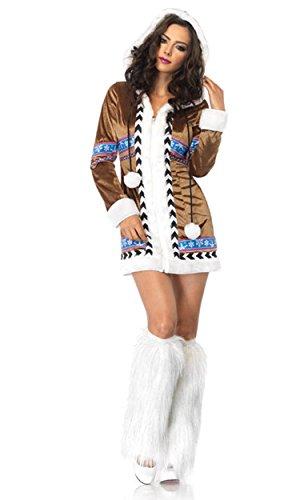 Leg Avenue Women's Igloo Cutie Eskimo Costume, Brown,