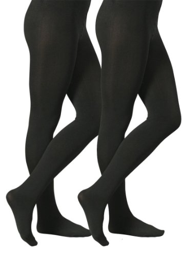 - YENITA 2 Pack Women Winter Tights Thick Warm Soft Fleece Lined Thermal Pantyhose (Medium / Large, Black)