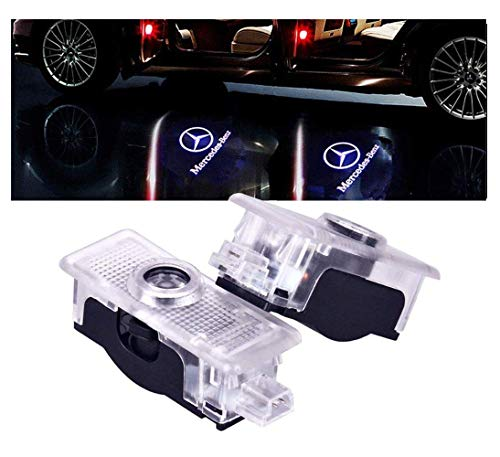 2010 Mercedes Clk Cabriolet - PATRICON Car Door Lights LED Logo for Mercedes Benz Accessory,Ghost Shadow Auto Emblem Courtesy Step Lights for CLS Cla CLK Series, Entry Welcome Lights Courtesy Lights Ground Lamps Kit -2pcs