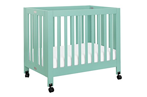 Wood 599 (Babyletto Origami Mini Crib, Lagoon)