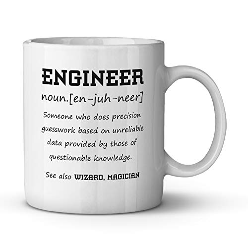 Engineer Definition Ceramic Coffee Mug Funny Gag Gift for Her Perfect Birthday Present for Him Christmas Gift Tea Cup Office Humor 11 oz