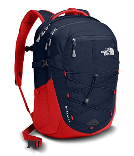 The North Face Side Zip Backpack - The North Face Borealis Backpack - Urban Navy & TNF Red - OS (Past Season)