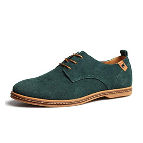 Green Shoes Up Lace Leather Oxford Microfibre Classic Men's IwUa0zx