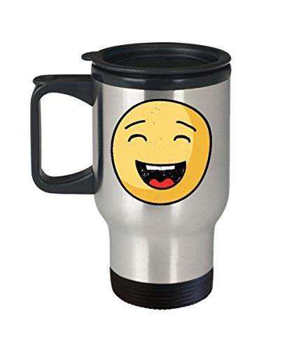 Smiley Face Travel Mug - Emoji Gifts -